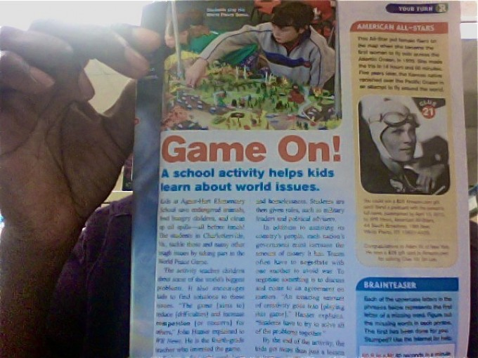 World Peace Game Featured in Weekly Reader