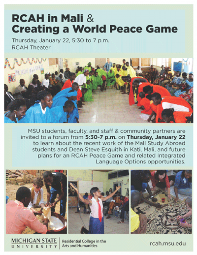 RCAH FORUM ON MALI PEACE GAME - World Peace Game Foundation