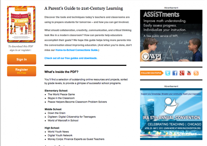 Edutopia: Parents' Guide to 21st Century Learning