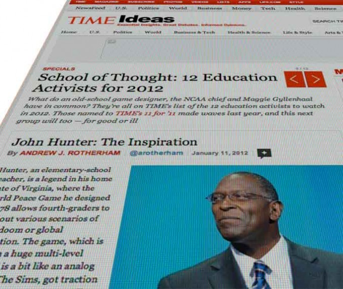 John Hunter in Time Magazine: School of Thought: 12 Education Activists for 2012